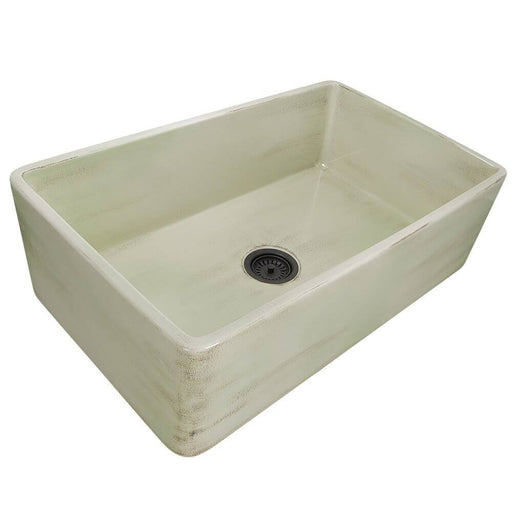 "Kitchen Sink - Nantucket Sinks 33"" Farmhouse Fireclay Sink With Shabby Green Finish"
