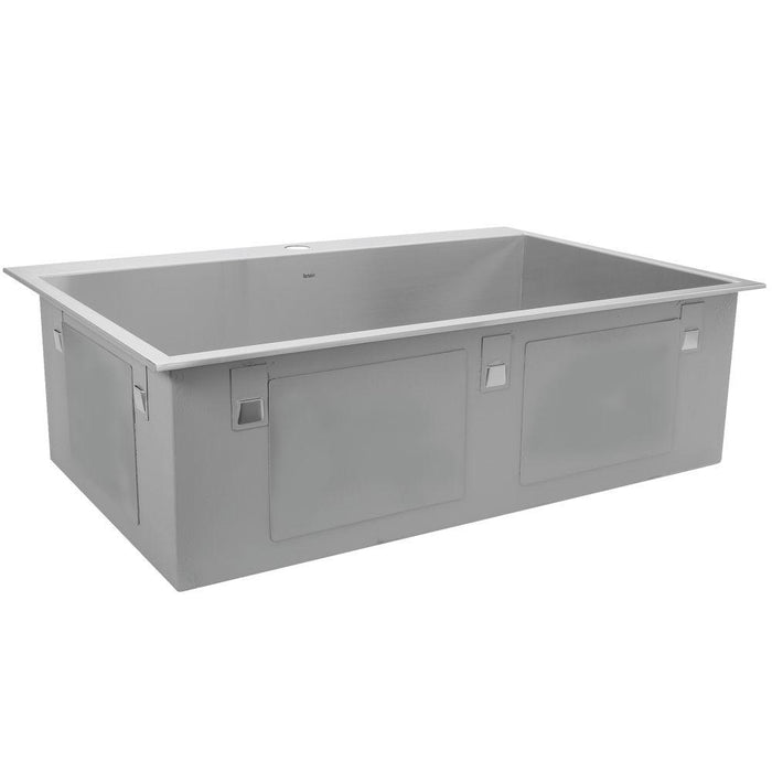 "Kitchen Sink - Nantucket Sinks 33"" Large Rectangle Single Bowl Self Rimming Stainless Steel Drop In Kitchen Sink, 16 Gauge -1 Hole"