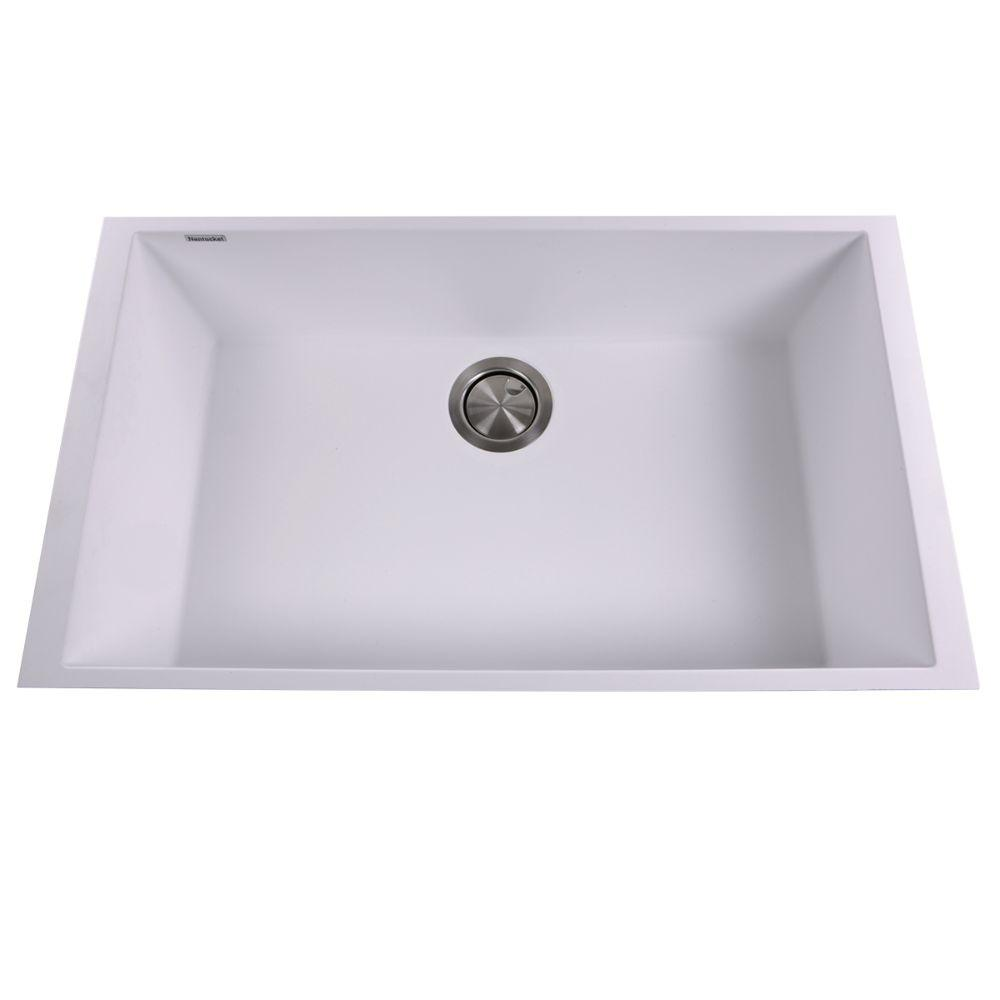Kitchen Sink - Nantucket Sinks Large Single Bowl Undermount Granite Composite White