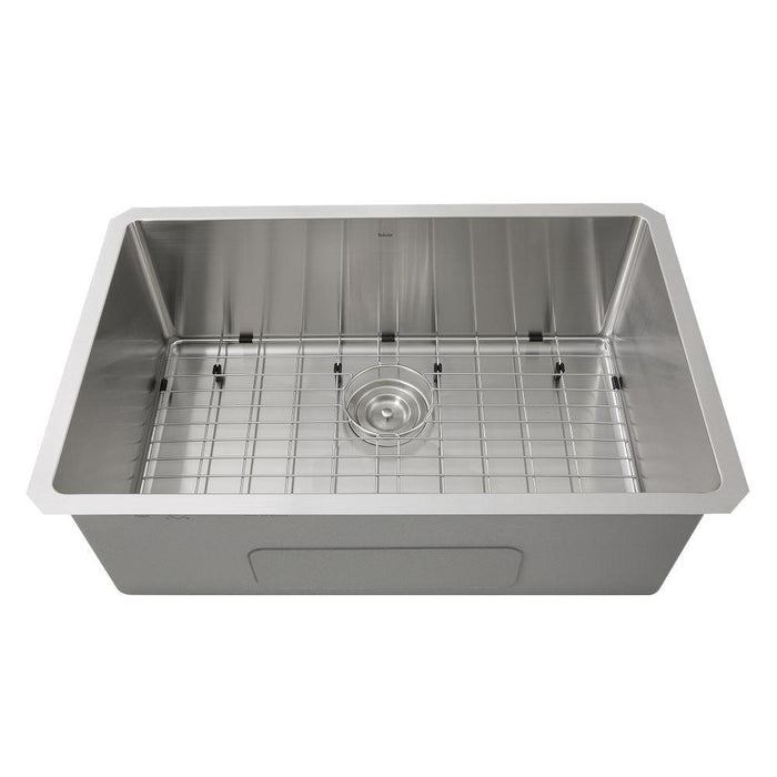 Kitchen Sink - Nantucket Sinks' SR3018 Pro Series Rectangle Single Bowl Undermount Small Radius Corners Stainless Steel Kitchen Sink, 16 Gauge