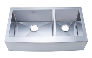"Kitchen Sink - Stufurhome 36"" Apron/Farmhouse Stainless Steel Double Bowl Kitchen Sink"