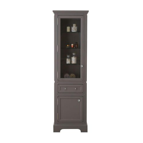 Linen Tower - Derby Collection Linen Cabinet In Cashmere Grey