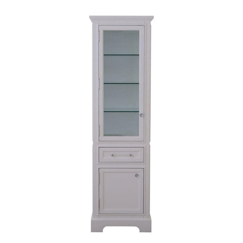 Linen Tower - Derby Collection Linen Cabinet In White