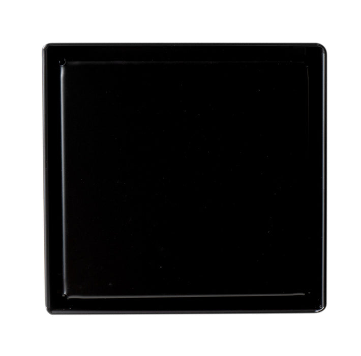 "Shower Drain - 5"" X 5"" Black Matte Square Stainless Steel Shower Drain With Solid Cover"
