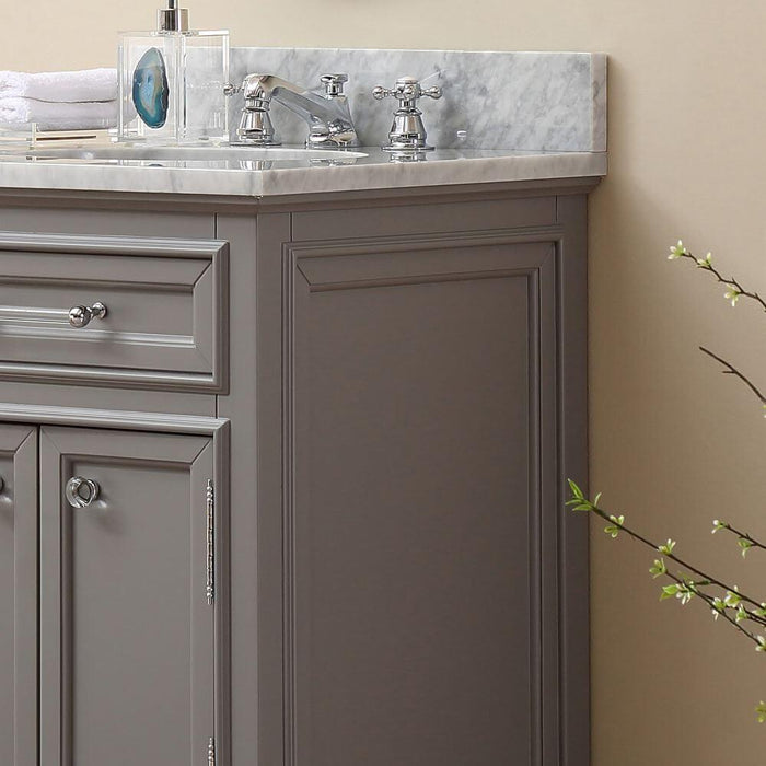 "Vanity - 24"" Cashmere Grey Single Sink Bathroom Vanity W/ Faucet From The Derby Collection"