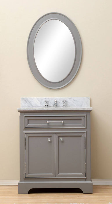 "Vanity - 30"" Cashmere Grey Single Sink Bathroom Vanity From The Derby Collection"