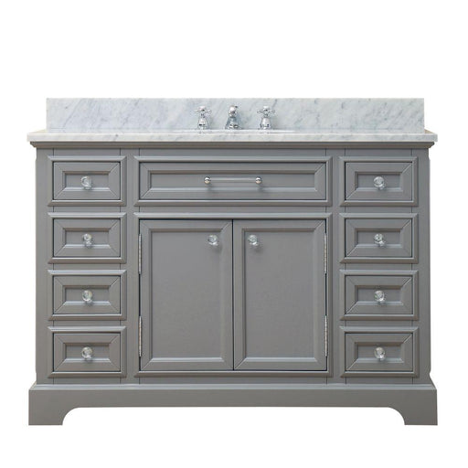 "Vanity - 48"" Cashmere Grey Single Sink Bathroom Vanity W/ Faucet From The Derby Collection"