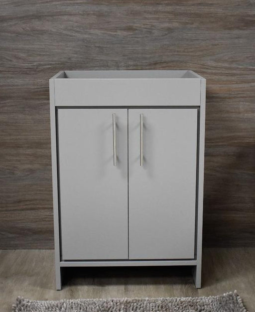 "Vanity - Villa 30"" Modern Bathroom Vanity In Grey With Stainless Steel Round Hollow Hardware Cabinet Only"