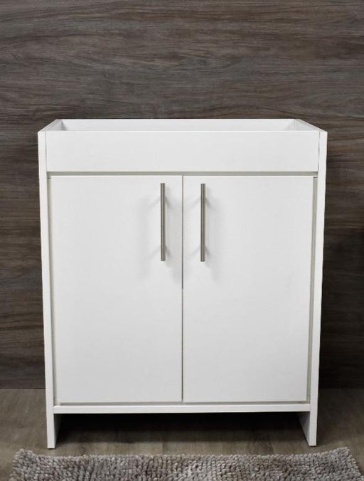 "Vanity - Villa 36"" Modern Bathroom Vanity In White With Stainless Steel Round Hollow Hardware Cabinet Only"