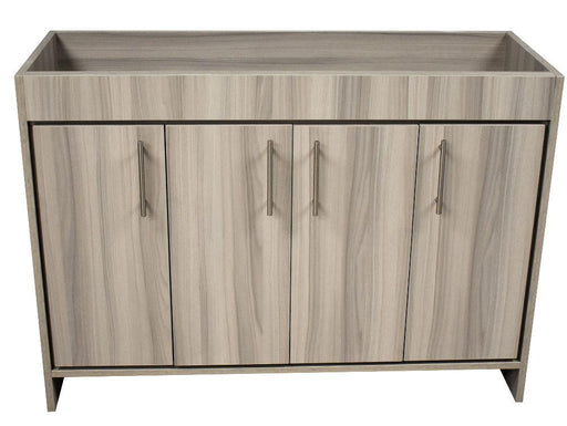 "Vanity - Villa 48"" Modern Bathroom Vanity In Ash Grey With Stainless Steel Round Hollow Hardware Cabinet Only"
