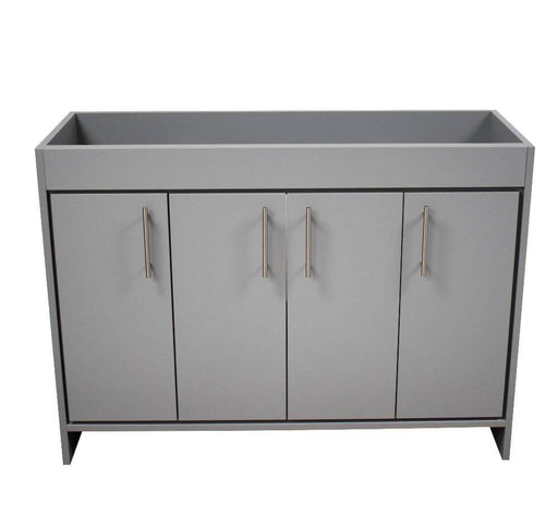 "Vanity - Villa 48"" Modern Bathroom Vanity In Grey With Stainless Steel Round Hollow Hardware Cabinet Only"