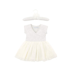 Baby Girl's Ballerina Outfit in Ballet Cream/Light Grey