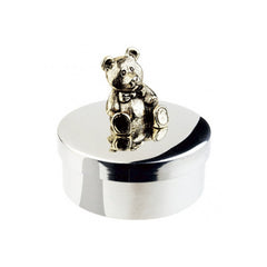 Polished Pewter Teddy Bear Keepsake & Tooth Fairy Box