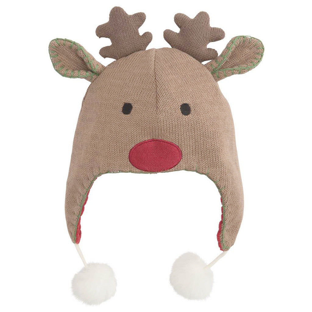 Christmas Reindeer Aviator Hat