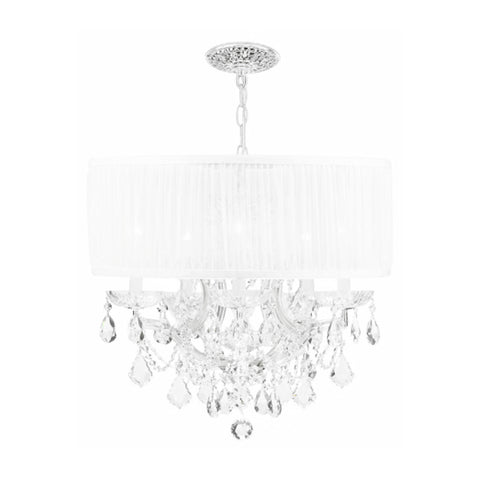 Crystal Drum Chandelier with Polished Crystal