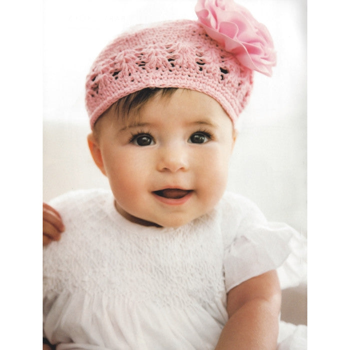 Grosgrain Rosette Soft Crocheted Hat (One Size)