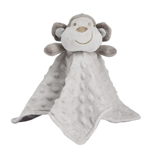 Plush Soft Monkey Buddy Security Blanket (OS)