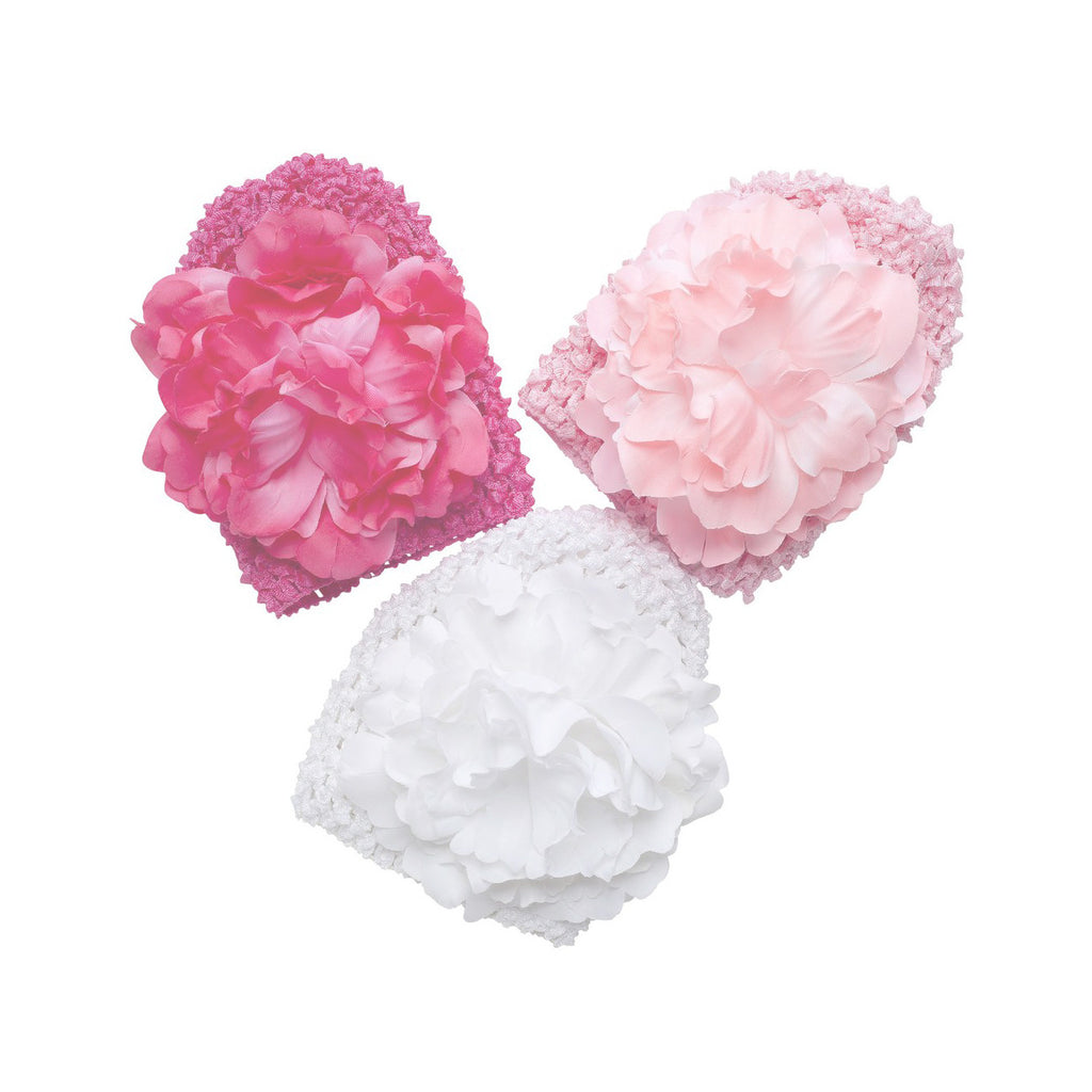 Elegant Baby Girls Flower Crochet Beanie Hat