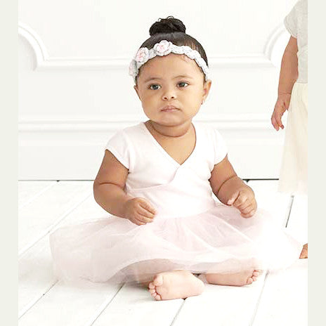 9e0567e4ac Baby Girl's Soft Ballet Dress Outfit in Ballerina Blush Pink