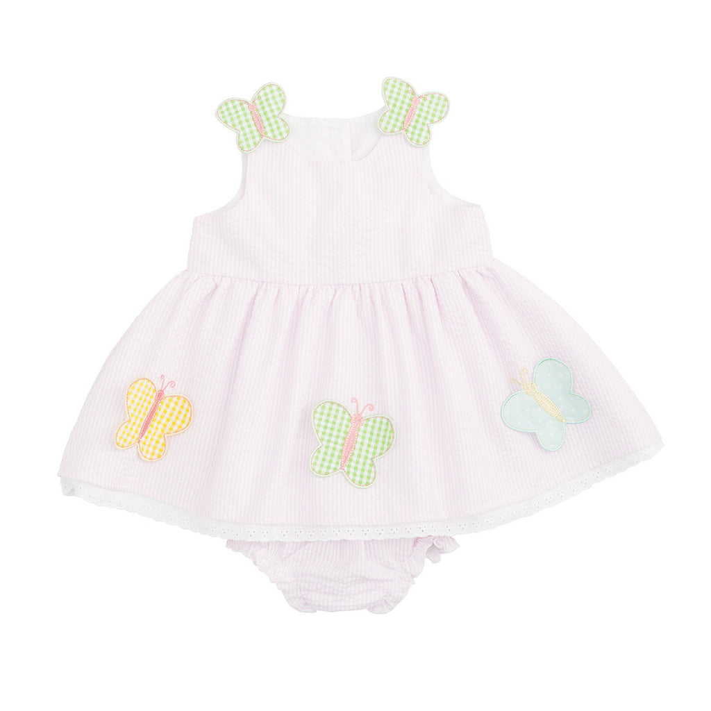Elegant Baby Girl's Spring Butterfly Soft Sun Dress