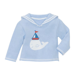 Elegant Baby Nautical Whale Pullover Sweater