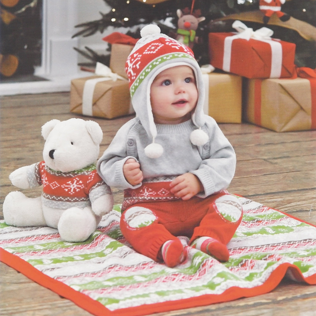 Winter Fair Isle Grey 100% Cotton Sweater & Pant Set