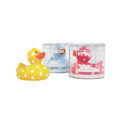Classic Bath My Rubber Ducky In White Polka Dot