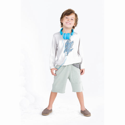 Go Gently Boy's Organic Pocket Short in Sage