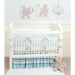 Doodlefish Hamptons Blue Stripe Fine Bedding