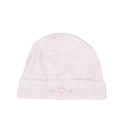 Kissy Kissy Homeward Bound Pink Gingham Hearts Hat