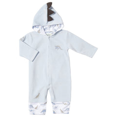 Kissy Kissy Luxury Pima Soft Velour Dinosaur Playsuit