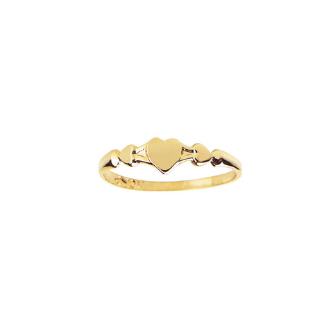 EB Little Girl's Gold Protective Held Hearts Ring