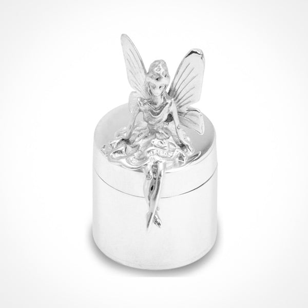 Sterling Silver Children's Tooth Fairy Treasure Box