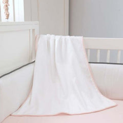 White Pique Innocence Luxury Nursery Blanket