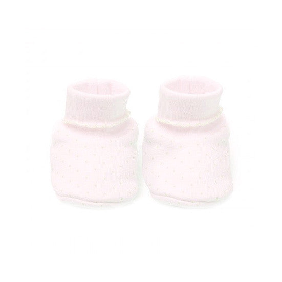 Kissy Kissy Dots Collection Pink Pima Bootie Slippers