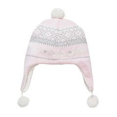 NEW! Soft Pink Warm Fair Isle Pink Aviator Hat