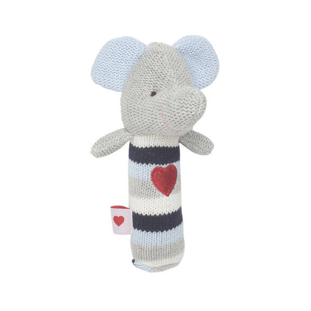 Elegant Baby Squeaky Elephant Heart Toy Rattle