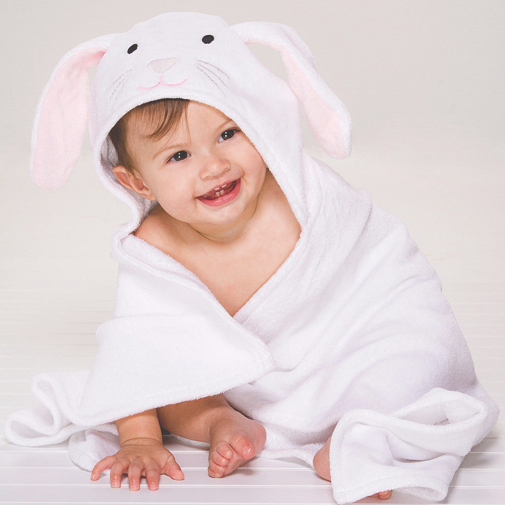 Plush Soft Bunny Hooded Bath Wrap Gift Set