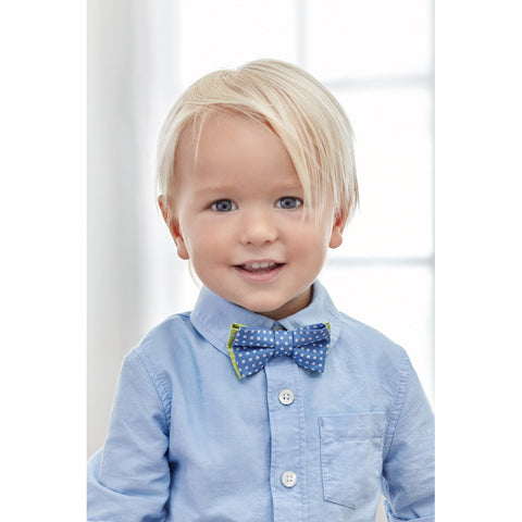 Luxury Pre-Tied Toddler Boy's Sun Blue Bow Tie