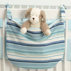 Hamptons Blue Stripe Fine Nursery Toy/Supplies  Bag