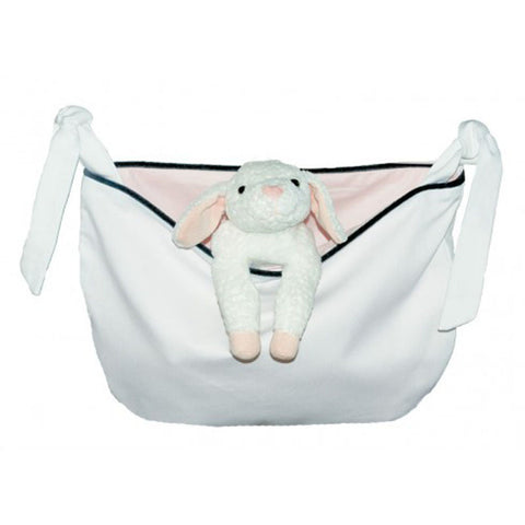 Innocence White Pique Toy & Supplies Nursery Bag