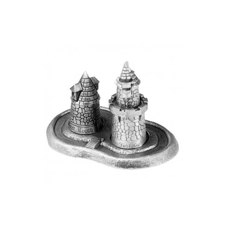 Salisbury Baby Pewter Curl & Tooth Fairy Castle