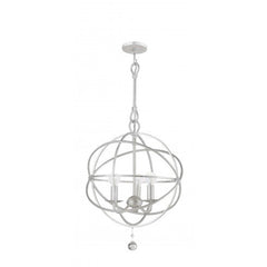 Solaris Sphere Collection Wrought Iron Silver Pendant