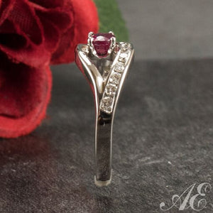 One of a kind - 14k white gold ruby ring