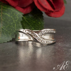 One of a kind - 14k white gold diamond band