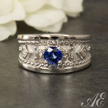 Load image into Gallery viewer, Half Off - One of a kind - 14k white gold and sapphire ring