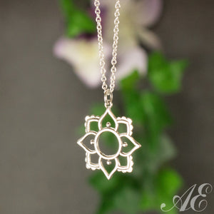 Half Off - Sterling silver pendant