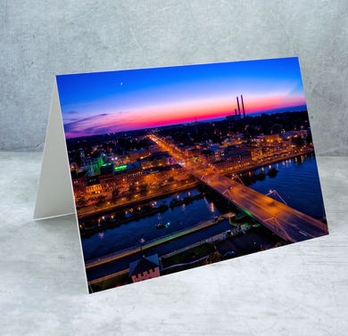 Bridge Street Overview Greeting Card