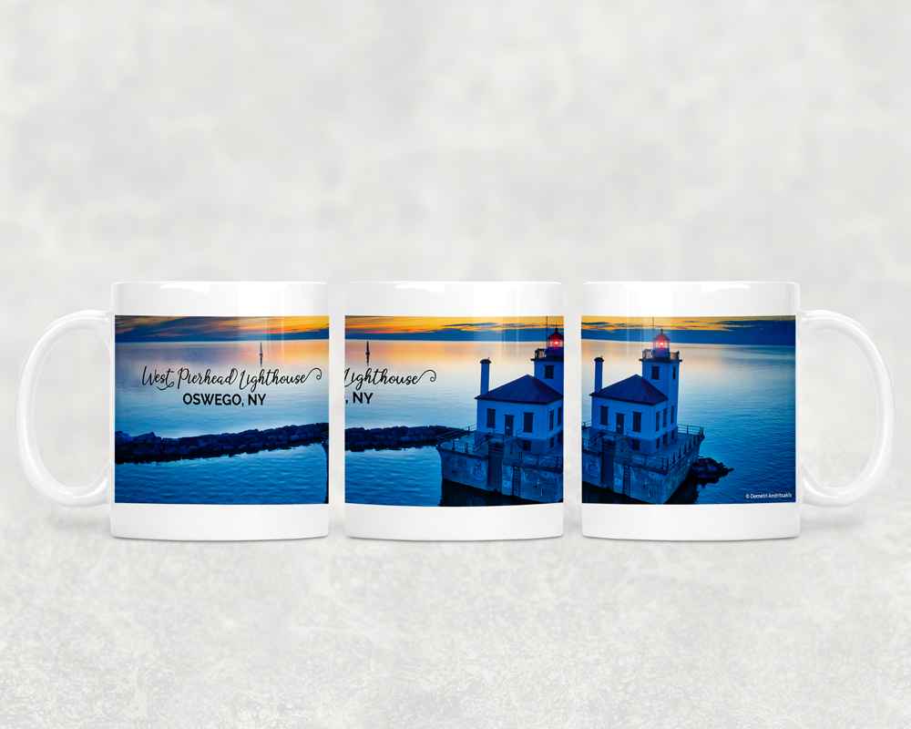 11 oz Ceramic Mug Lighthouse Sunset