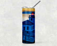 Load image into Gallery viewer, Lighthouse Sunset 20oz Skinny Tumbler